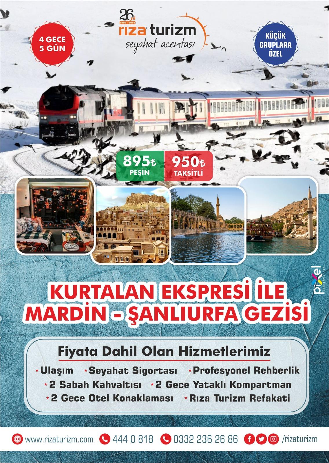 Kurtalan Ekspresi İle Mardin ve Şanlıurfa Turu